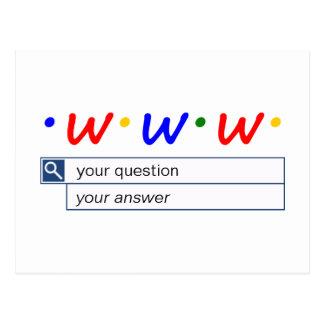 Kundengerechte Netz-Suche - Frage und Antwort Postkarte