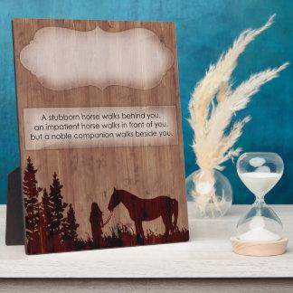 Kundengerechte Pferdezitat-Stall-Plakette Schautafel