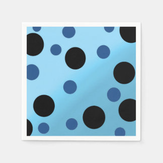 Kundengerechte Punkte auf gemischtem SkyBlue Papierservietten