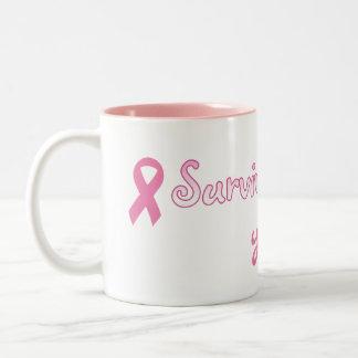 Kundengerechte rosa Band-Tasse Zweifarbige Tasse