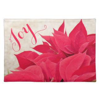 Kundengerechte rote Poinsettia Tischset