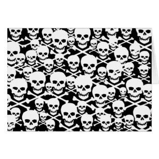Kundengerechte Schädel u. gekreuzte Knochen Mitteilungskarte