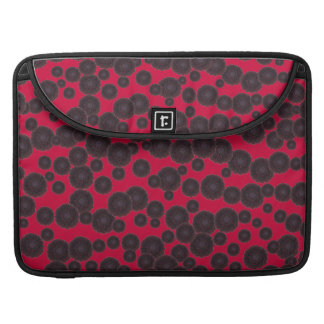 Kundengerechte schwarze Dahlien Sleeve Für MacBook Pro