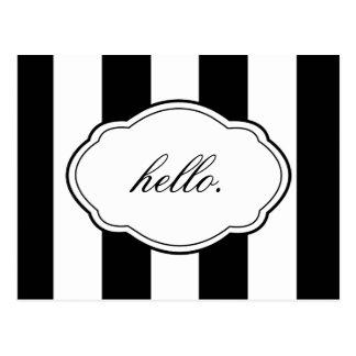 Kundengerechte schwarze u. weiße postkarte