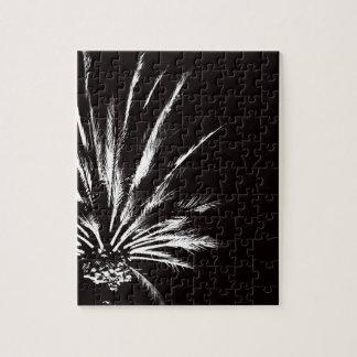 Kundengerechte Schwarzweiss-Palme Puzzle