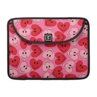 Kundengerechte smiley-Herzen Sleeve Für MacBooks