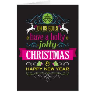 Kundengerechte Stechpalmen-lustige Weihnachtskarte Karte