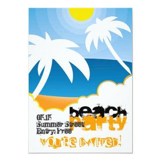 Kundengerechte Strand-Party Einladung
