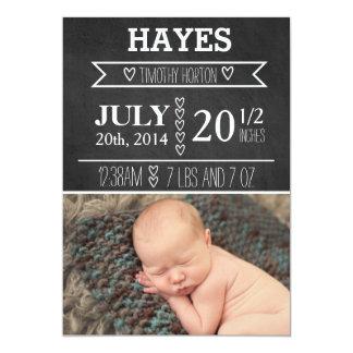 Kundengerechte Tafel-Geburts-Mitteilung 12,7 X 17,8 Cm Einladungskarte