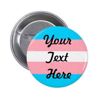 Kundengerechte Transgender-Stolz-Flagge Runder Button 5,7 Cm