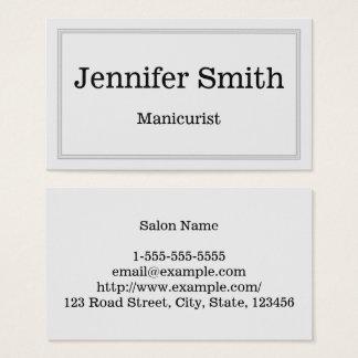 Kundengerechte u. saubere Manikürist-Visitenkarte Visitenkarte