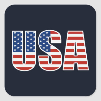 Kundengerechte USA-amerikanische Flagge Quadratischer Aufkleber