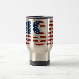 Kundengerechte USA-amerikanische Flagge Edelstahl Thermotasse