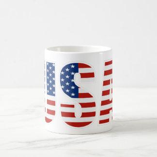 Kundengerechte USA-amerikanische Flagge Kaffeetasse
