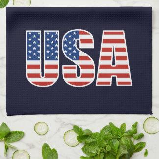 Kundengerechte USA-amerikanische Flagge Küchenhandtuch