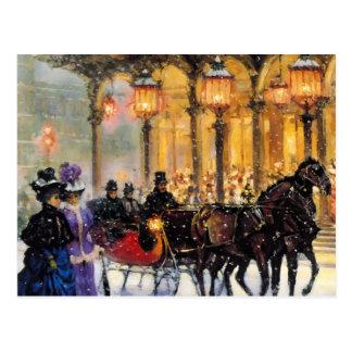 Kundengerechte Vintage Entwurfs-Weihnachtspostkart Postkarten