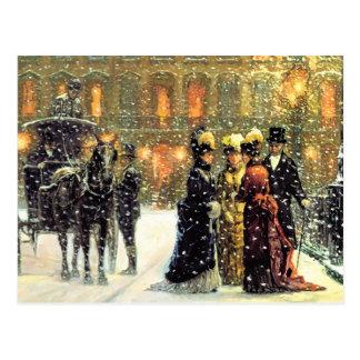Kundengerechte Vintage Entwurfs-Weihnachtspostkart Postkarte