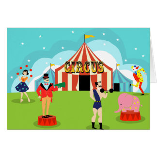 Kundengerechte Vintage Zirkus-Gruß-Karte Karte