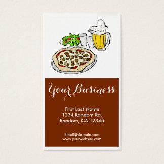 Kundengerechte Visitenkarten des Pizzabuffets