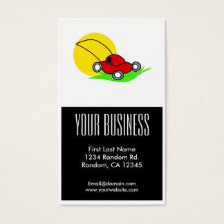 Kundengerechte Visitenkarten des roten Rasenmähers