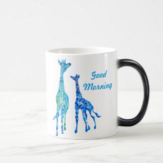 Kundengerechte Watercolor-Giraffen-Kaffee-Tasse Verwandlungstasse