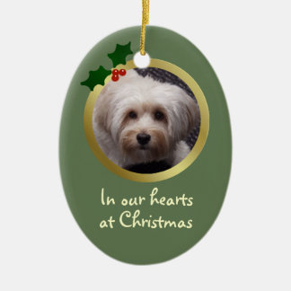 Customizable Christmas Dog Memorial Ornament