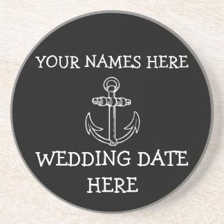 Kundengerechter Anker-Hochzeits-Untersetzer Untersatz