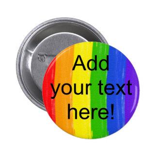 Kundengerechter Aquarell-Regenbogen Runder Button 5,7 Cm