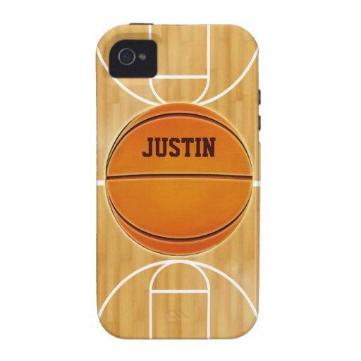 Kundengerechter Basketballplatz iPhone 4 Hüllen
