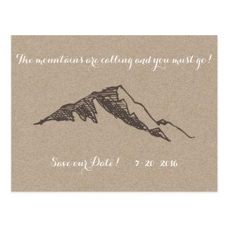 Kundengerechter Berg Save the Date Postkarte