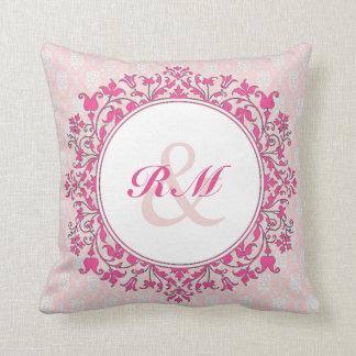 Kundengerechter Blumendamast Pillow_Pink Kissen