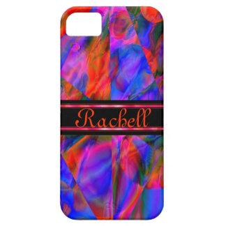 Kundengerechter bunter roter blauer Marmor mögen iPhone 5 Case