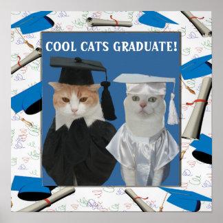 Kundengerechter cooler Katzen-Absolvent für Lehrer Poster