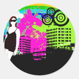 kundengerechter Entwurf des bunten städtischen Sta Runde Sticker