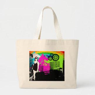 Kundengerechter Entwurf des bunten städtischen Sta Einkaufstasche