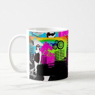 Kundengerechter Entwurf des bunten städtischen Sta Tee Tassen