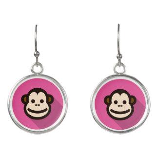 Kundengerechter flacher Entwurfs-niedlicher Affe Ohrringe