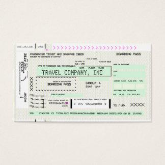 Kundengerechter Fluglinien-Boarding-Durchlauf Visitenkarte