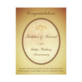 Kundengerechter goldener Hochzeitstag Leinwanddruck