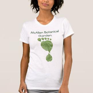 Kundengerechter grüner Blatt-Abdruck T-Shirt