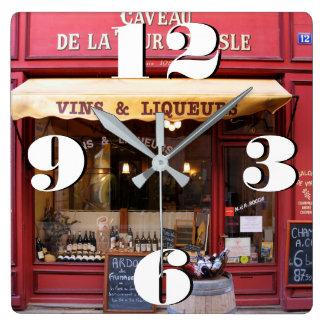Kundengerechter Handwerker-Speicher in Frankreich Quadratische Wanduhr