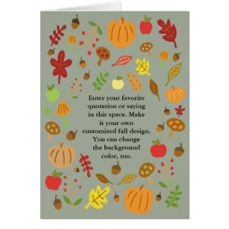 Kundengerechter Herbst-Entwurf Karte
