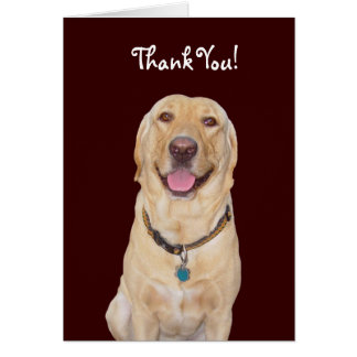 "Kundengerechter Hund/Labrador ""danken Ihnen! "" Karte"
