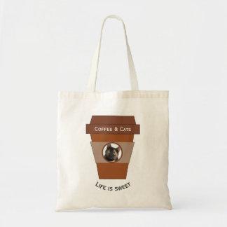 Kundengerechter Kaffee u. Katzen - das Leben ist Tragetasche