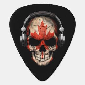 Kundengerechter Kanadier-DJ-Schädel mit Kopfhörern Plektrum