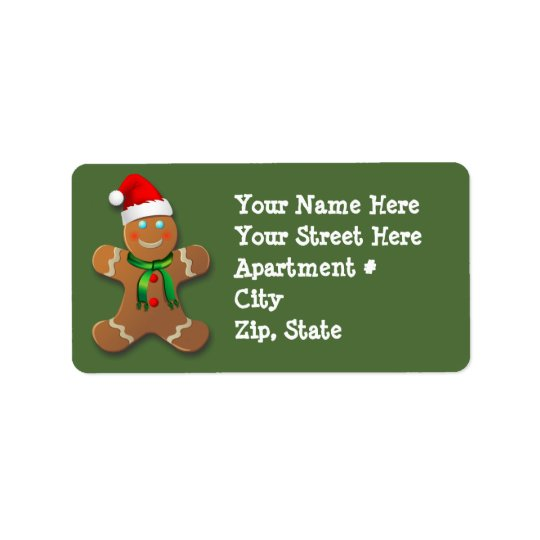 Kundengerechter Lebkuchen-Mann Adressetikett