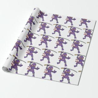 Kundengerechter lila Ninja Entwurf Geschenkpapier