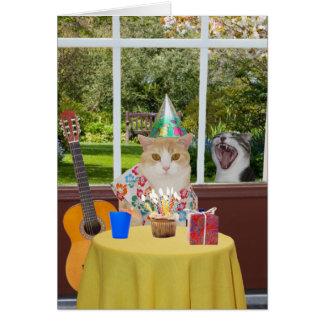 Kundengerechter lustiger Katzen Photobomb Karte