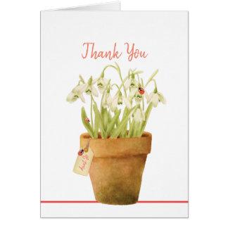 Kundengerechter Marienkäfer danken Ihnen zu Karte