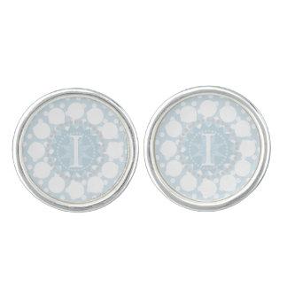 Kundengerechter Monogramm-Tupfen-runde Manschettenknöpfe